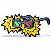 Cartoon x-ray specs — Stock Vector