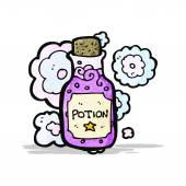 Small potion bottle cartoon — Stock Vector