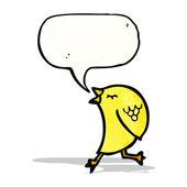 Pássaro de canto dos desenhos animados — Vetor de Stock
