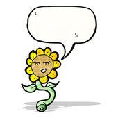 мультфильм счастливый подсолнечник — Cтоковый вектор