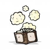 Dusty old book cartoon — Vecteur