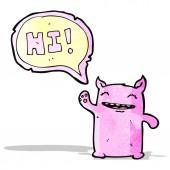 Vriendelijke monster cartoon — Stockvector