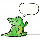 Friendly crocodile cartoon — Vector de stock