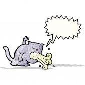 Chat de dessin animé étant malade — Vecteur