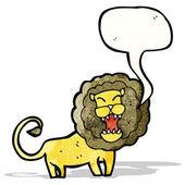 Cartoon roaring lion — Stock Vector