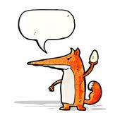 Sneaky fox cartoon — Stock Vector
