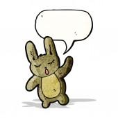 Waving rabbit cartoon — Stockvector