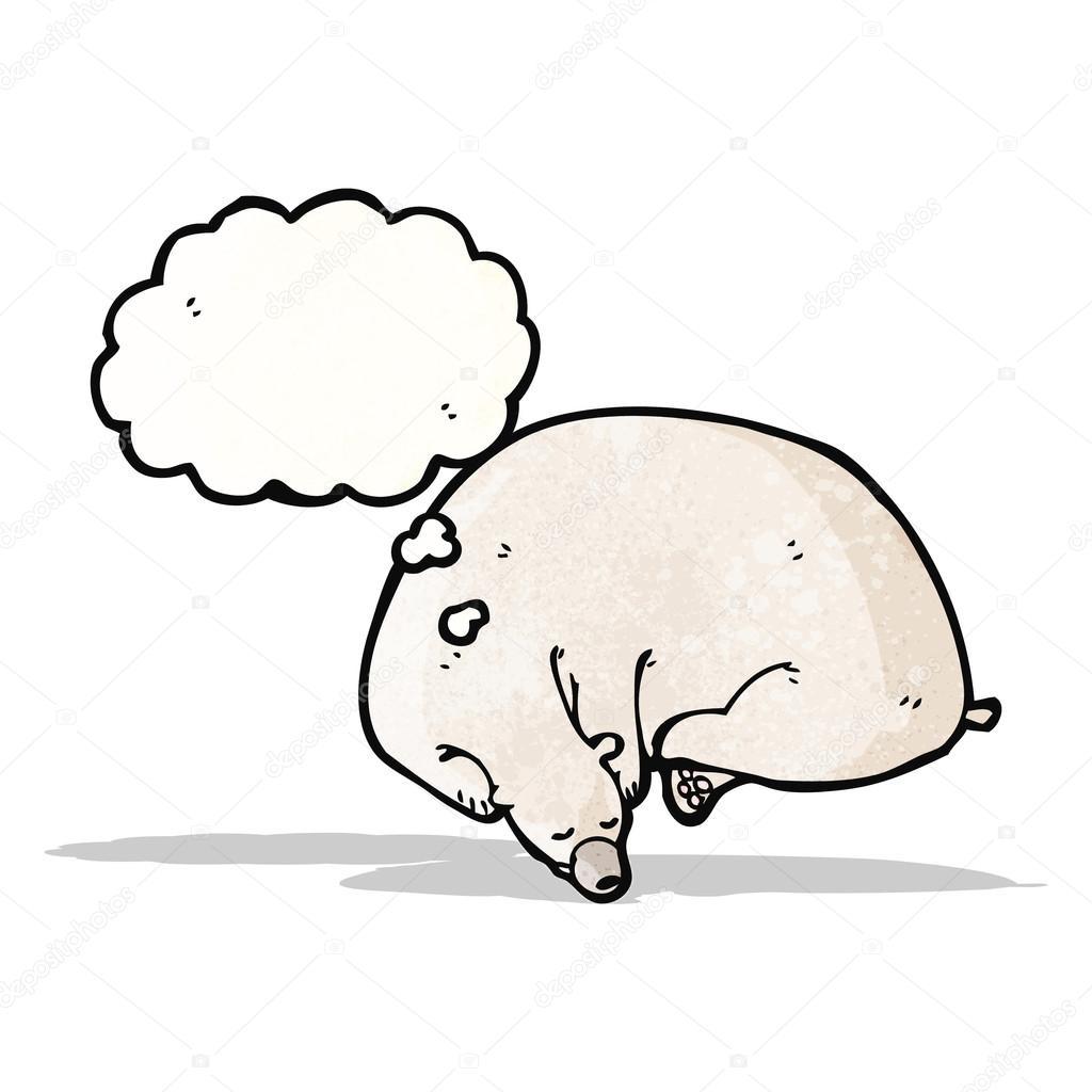 睡觉北极熊卡通 — 图库矢量图像08