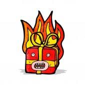 燃えるような存在の漫画 — ストックベクタ