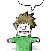 Šťastný karikatura — Stock vektor