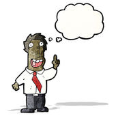 Cartoon businessman with idea bubble — Stockvektor
