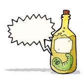 Tequila bottle cartoon — Stock Vector
