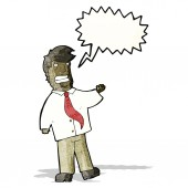 Grinning salesman cartoon — Stock Vector