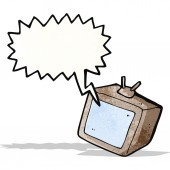 Cartoon television set — Stock Vector