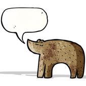 Cartoon bear with speech bubble — Stock Vector