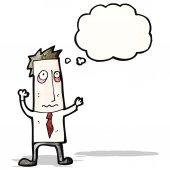 Cartoon tired businessman — Stock Vector