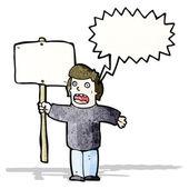 Politiska protestor med plakat — Stockvektor