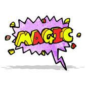 Comic book magic shout symbol — Stock Vector
