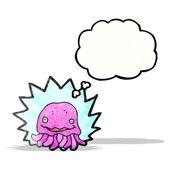Cartoon jellyfish — Stock Vector