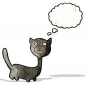 Cute halloween black cat — Stock Vector