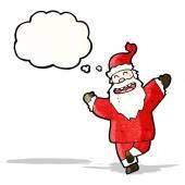 Dancing santa claus cartoon — Stock Vector