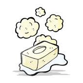 Cartoon bar of soap — Stock Vector