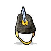 Alte militärischer Helm-cartoon — Stockvektor