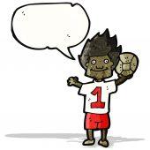 Jugador de fútbol de dibujos animados — Vector de stock