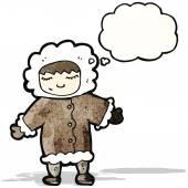 Cartoon eskimo — Stock Vector