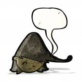 Cartoon mädchen kopf mit sprechblase — Stockvektor