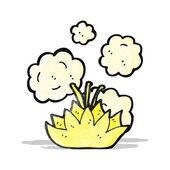 Cartoon flower symbol — Stock Vector