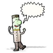 Frankenstein's monster cartoon — Stock Vector