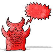 Cartoon roaring demon — Stock Vector