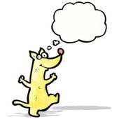 Tecknad hund med tankebubbla — Stockvektor