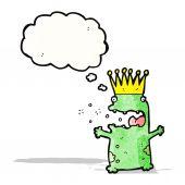 Frog prince cartoon — Vecteur