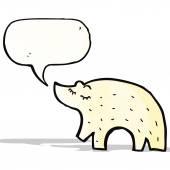 Cute polar bear cartoon — Stock Vector