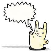 Cartoon konijn met tekstballon — Stockvector