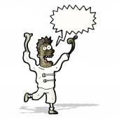 Cartoon crazy mad man — Stock Vector