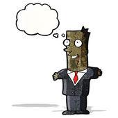 Harika bir fikir ile karikatür işadamı — Stok Vektör