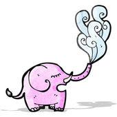 мультфильм слон брызги — Cтоковый вектор