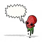 Hrubá karikatura lebka — Stock vektor