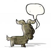 Cartoon goat with speech bubble — Stock Vector