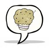 Cupcake cartoon symbol — Stock Vector