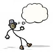 Dancing stick man cartoon — Stock Vector
