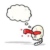 Cartoon blood spurting skull — Stock Vector