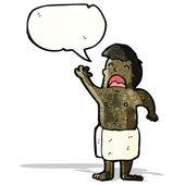 Cartoon man in towel singing — Stock Vector