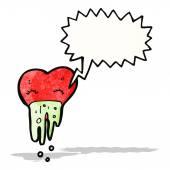 Love sick heart cartoon — Stock Vector
