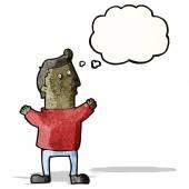 Penser l'homme dessin animé — Vecteur