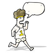 Cartoon tired marathon runner — Stock Vector