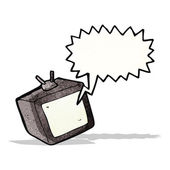 Cartoon tv screen with speech bubble — Wektor stockowy